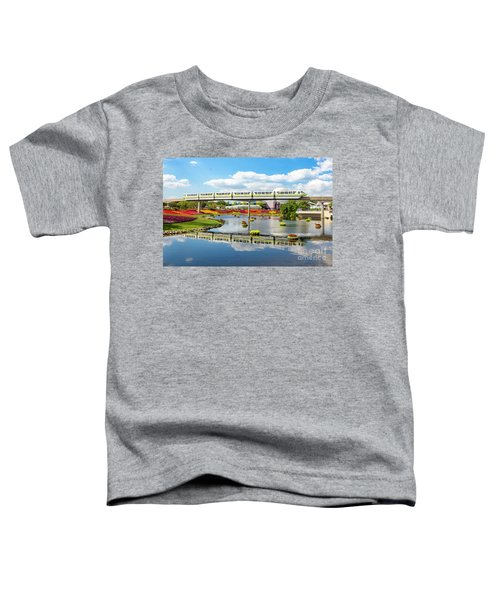 Monorail Cruise Over The Flower Garden. Toddler T-Shirt