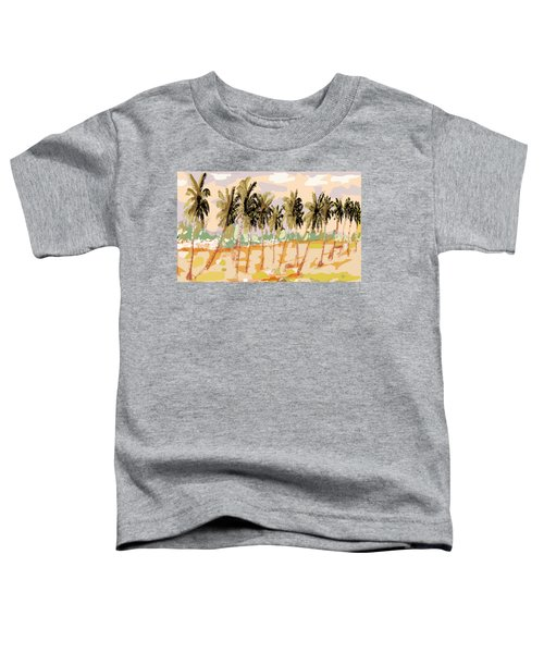 Monsoon At Field View - Kerala B Toddler T-Shirt by Thecla Correya