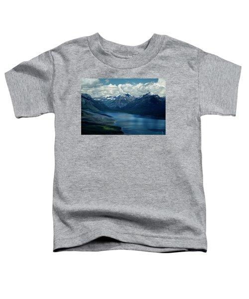 Montana Mountain Vista And Lake Toddler T-Shirt