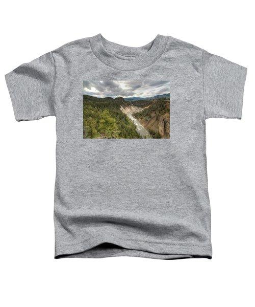 Moody Yellowstone Toddler T-Shirt