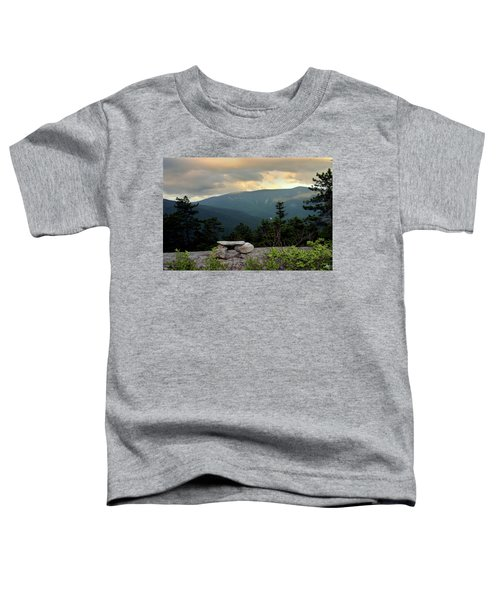 Moosilaukee View From Bench On Blueberry Mt. Toddler T-Shirt