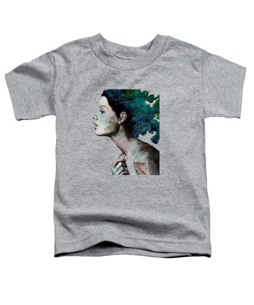 Moral Eclipse - Colorful Hair Woman With Moths Tattoos Toddler T-Shirt
