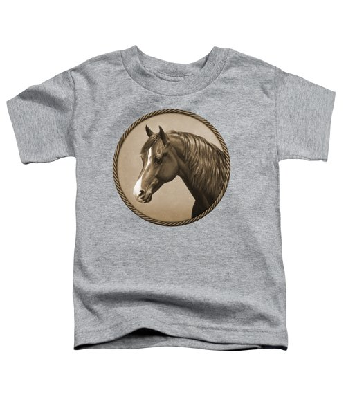 Morgan Horse Phone Case In Sepia Toddler T-Shirt