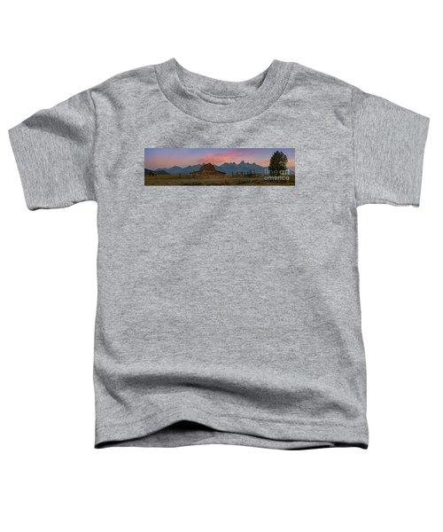 Mormon Row Sunrise Panorama Toddler T-Shirt