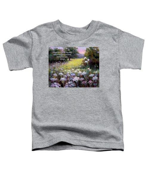 Morning Praises With Bible Verse Toddler T-Shirt