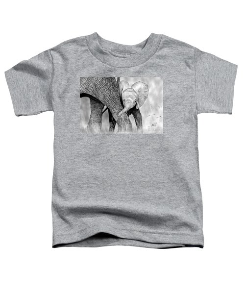 Mother And Baby Elephant Toddler T-Shirt