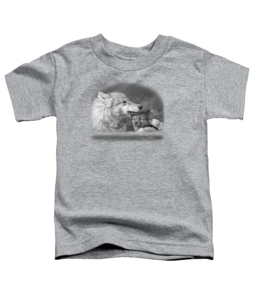 Mother's Love - Black And White Toddler T-Shirt by Lucie Bilodeau