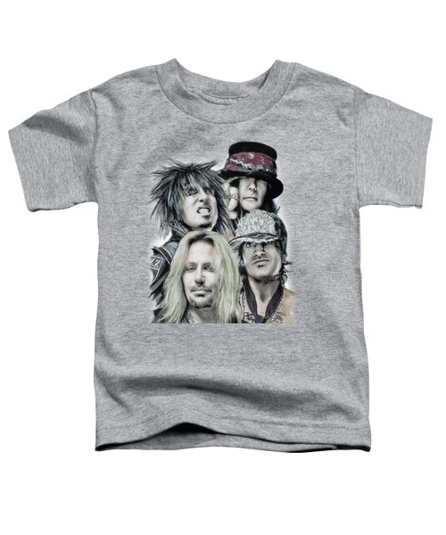 Motley Crue Toddler T-Shirt by Melanie D