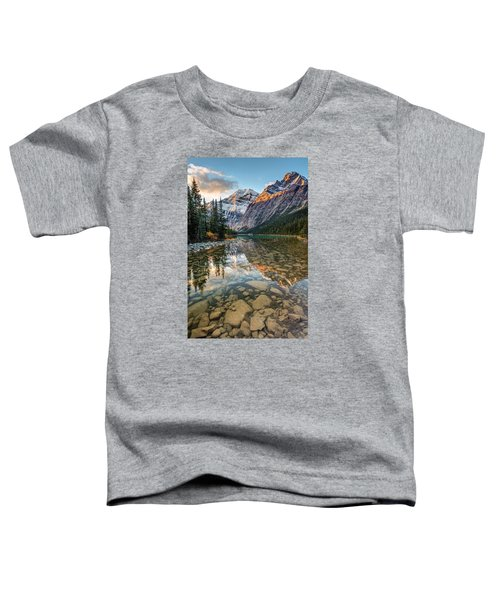Mount Edith Cavell Sunrise Toddler T-Shirt