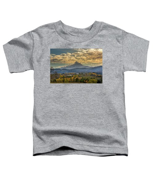 Mount Hood Over Farmland In Hood River In Fall Toddler T-Shirt