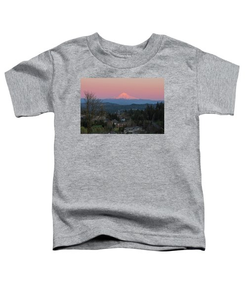Mount Hood Over Happy Valley Oregon Toddler T-Shirt