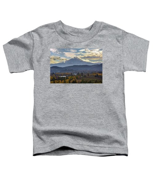 Mount Hood Over Hood River Valley In Fall Toddler T-Shirt