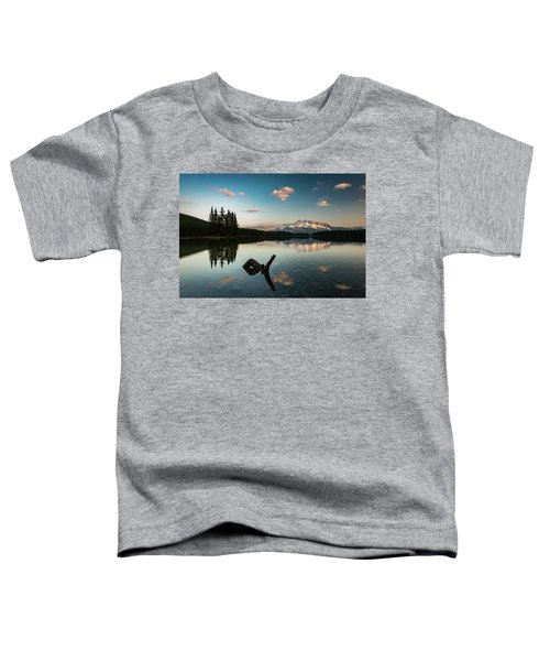 Mount Rundle And Two Jack Lake Toddler T-Shirt