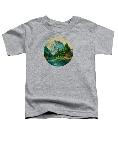 Mountain Lake Toddler T-Shirt by Mary Wolf