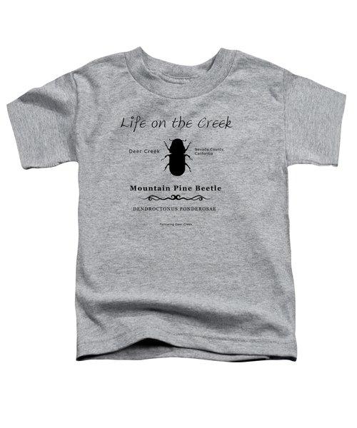 Mountain Pine Beetle Black On White Toddler T-Shirt