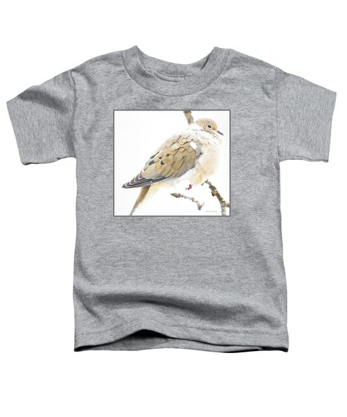 Mourning Dove, Snowy Morning Toddler T-Shirt