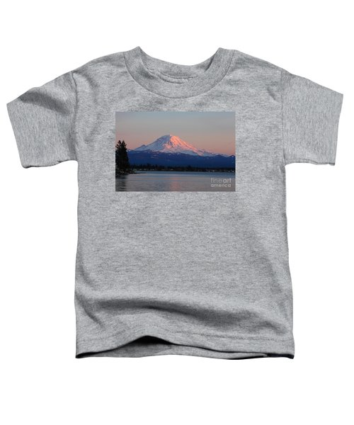 Toddler T-Shirt featuring the photograph Mt Rainier Sunset by Peter Simmons