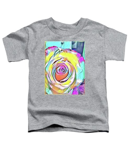 Multi-colored Rose Toddler T-Shirt