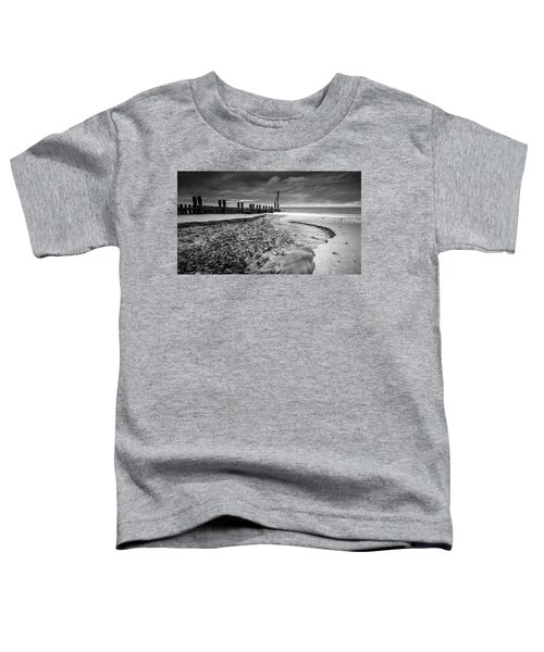 Mundesley Beach - Mono Toddler T-Shirt