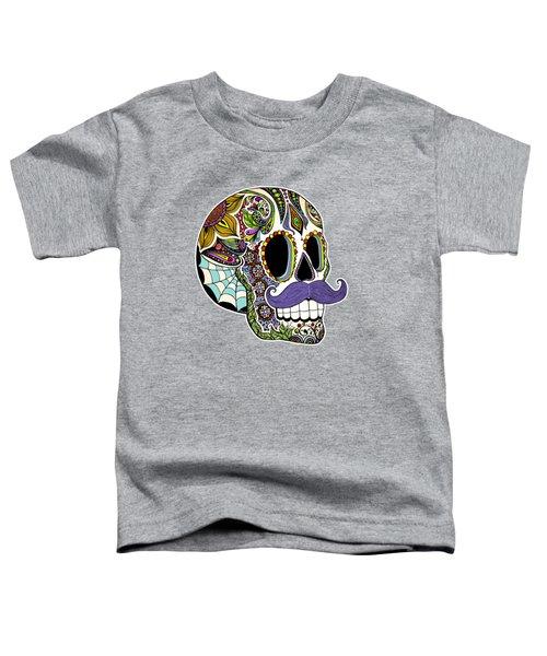 Mustache Sugar Skull Vintage Style Toddler T-Shirt