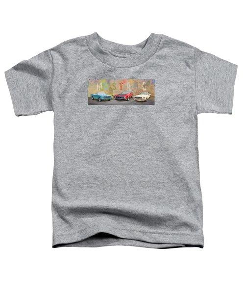 Mustang Panorama Painting Toddler T-Shirt