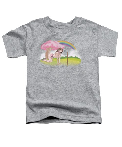 Toddler T-Shirt featuring the mixed media My Little Pony by TortureLord Art