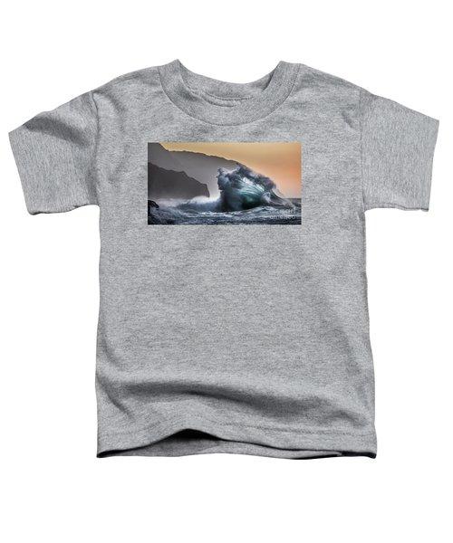 Napali Coast Hawaii Wave Explosion IIi Toddler T-Shirt