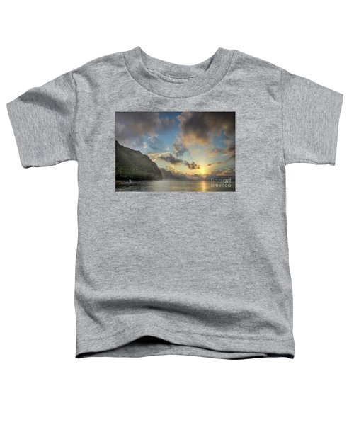 Napali Coast Sunset Kauai Toddler T-Shirt