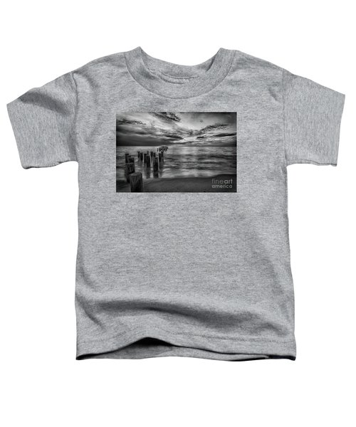 Naples Sunset In Black And White Toddler T-Shirt
