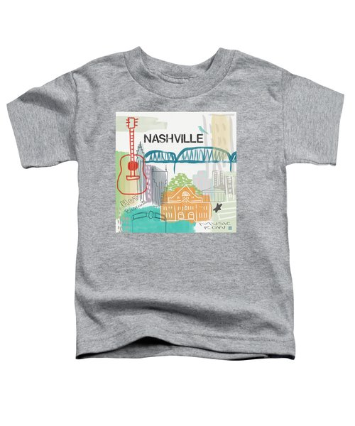 Nashville Cityscape- Art By Linda Woods Toddler T-Shirt