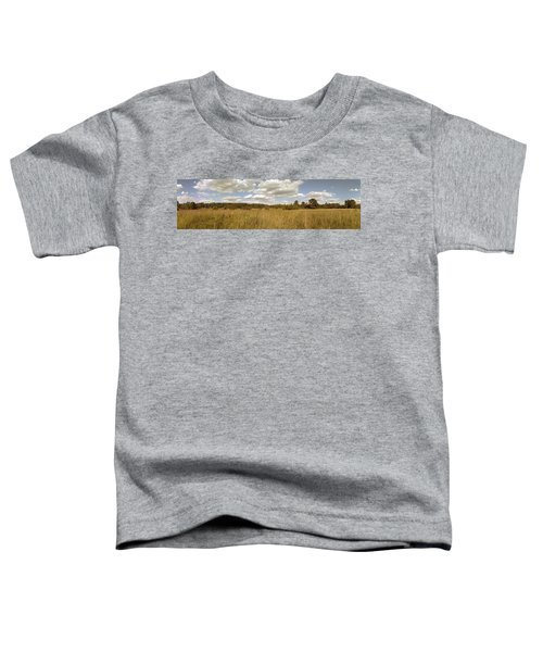 Natural Meadow Landscape Panorama. Toddler T-Shirt