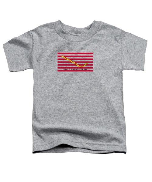 Navy Jack Flag - Don't Tread On Me Toddler T-Shirt