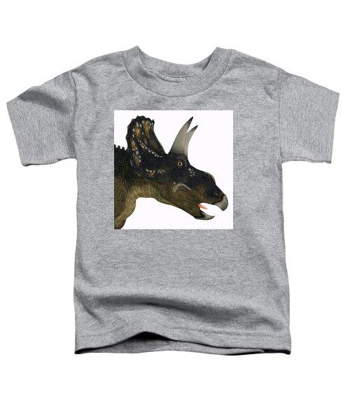 Nedoceratops Dinosaur Head Toddler T-Shirt