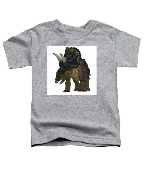 Nedoceratops On White Toddler T-Shirt