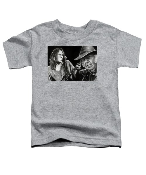 Neil Young And Neil Old Toddler T-Shirt