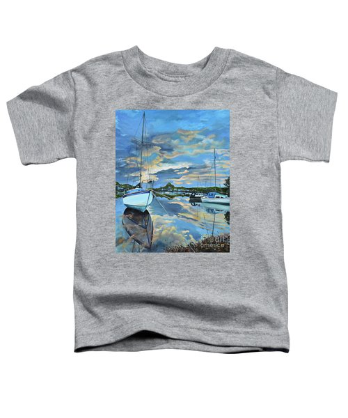 Nestled In For The Night At Mylor Bridge - Cornwall Uk - Sailboat  Toddler T-Shirt