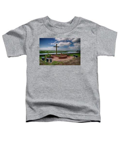 New Garden Cross At Belin Umc Toddler T-Shirt by Bill Barber