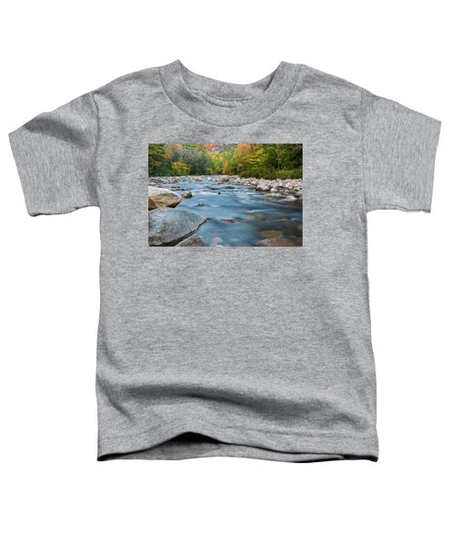 New Hampshire Swift River And Fall Foliage In Autumn Toddler T-Shirt