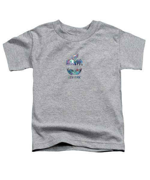new York apple  Toddler T-Shirt by Mark Ashkenazi