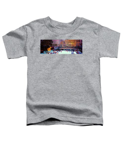 New York City Rockefeller Center Ice Rink  Toddler T-Shirt