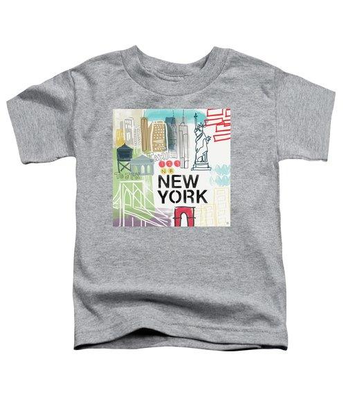 New York Cityscape- Art By Linda Woods Toddler T-Shirt