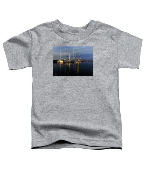 Toddler T-Shirt featuring the photograph Night On Paros Island Greece by Colette V Hera  Guggenheim