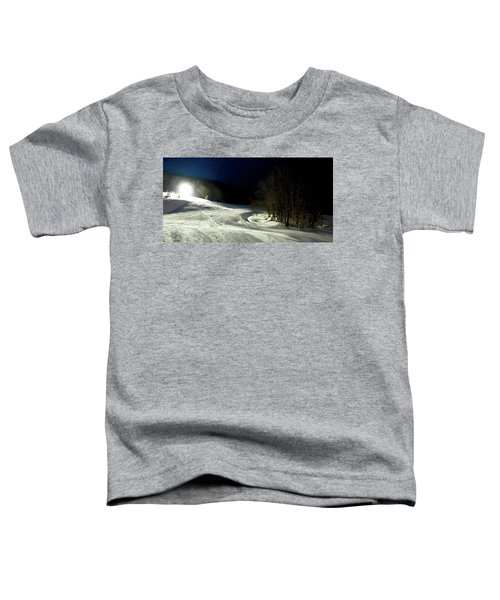 Toddler T-Shirt featuring the photograph Night Skiing At Mccauley Mountain by David Patterson