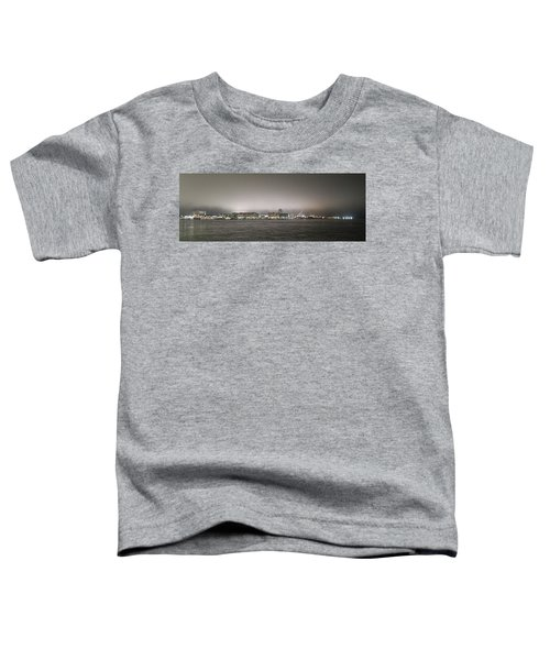 Night View Ocean City Downtown Skyline Toddler T-Shirt
