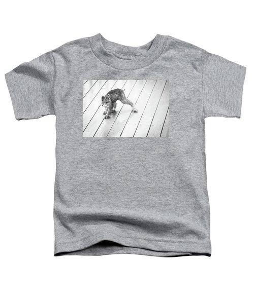 Ninja Lynx Kitty Bw Toddler T-Shirt