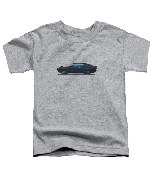 Nissan Skyline Gt-r C110 Side - Plain Black Toddler T-Shirt