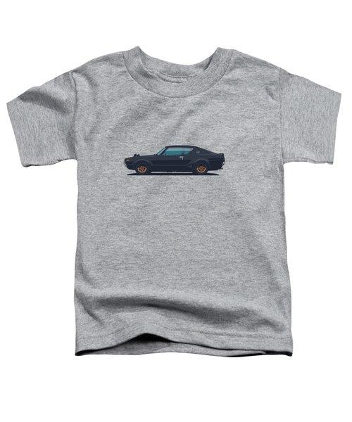 Nissan Skyline Gt-r C110 Side - Plain Black Toddler T-Shirt