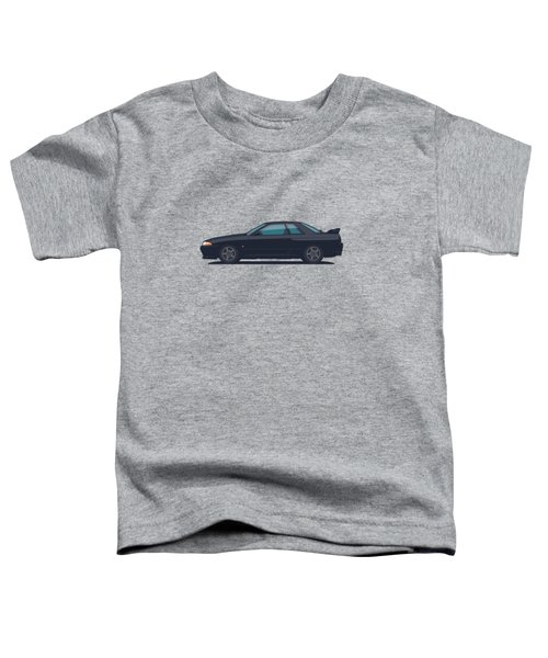 Nissan Skyline R32 Gt-r - Plain Black Toddler T-Shirt