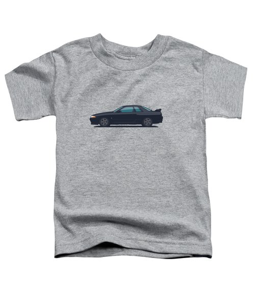 Nissan Skyline R32 Gt-r - Plain Black Toddler T-Shirt