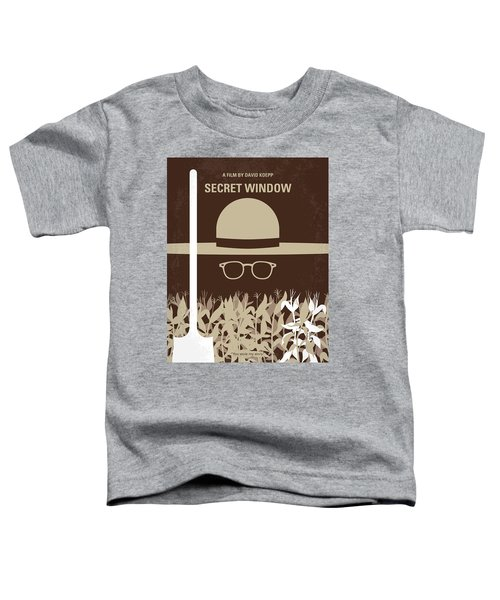 No830 My Secret Window Minimal Movie Poster Toddler T-Shirt